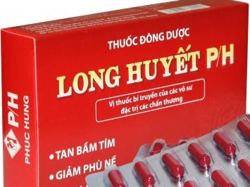 Thuốc long huyết P/H - Bí quyết trị bầm tím, nhanh lành vết thương